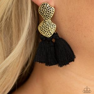 Picture of Tenacious Tassel - Black Earrings